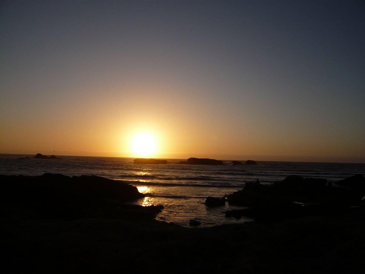 sunset in essaouira