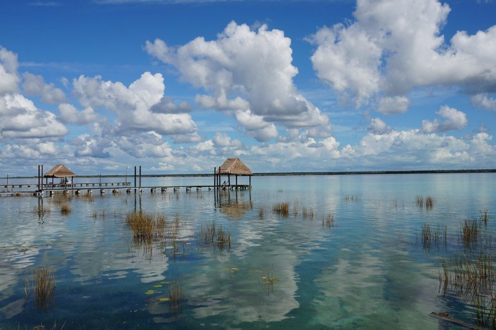 bacalar water reflections