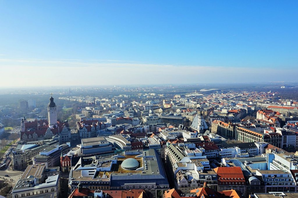view of leipzig city