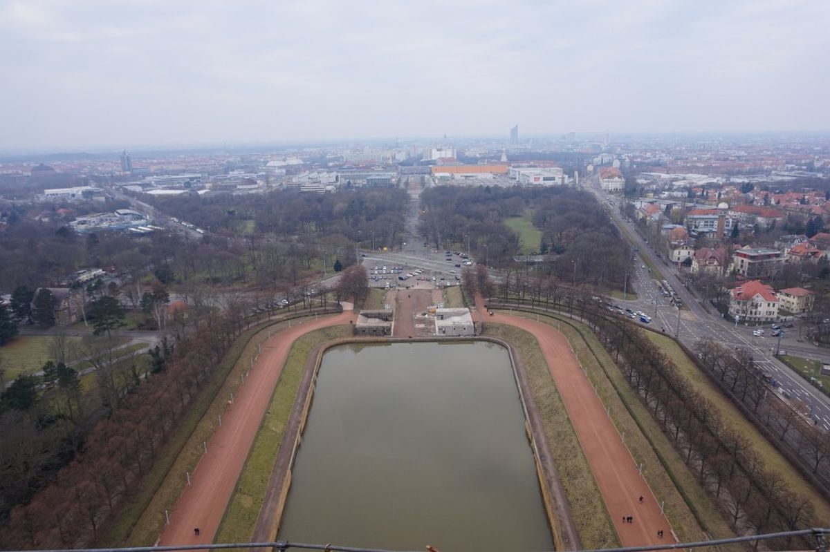 Völkerschlachtdenkmal blick leipzig