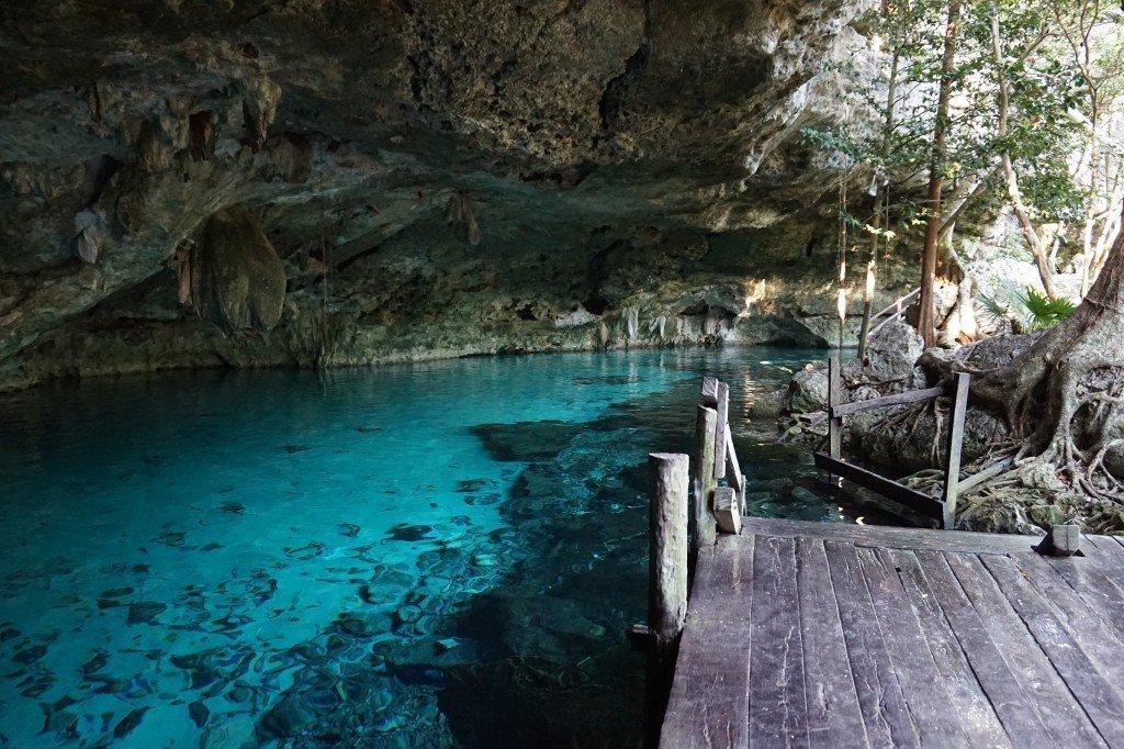 blue cenote waters dos ojos tulum