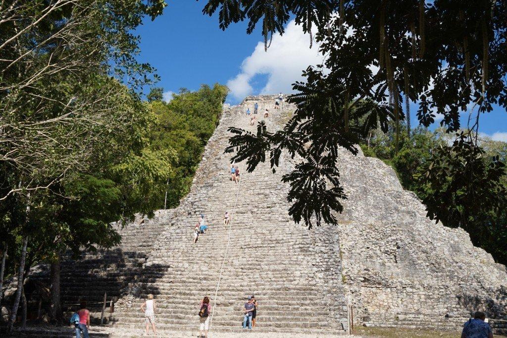 climbing pyramid coba tulum
