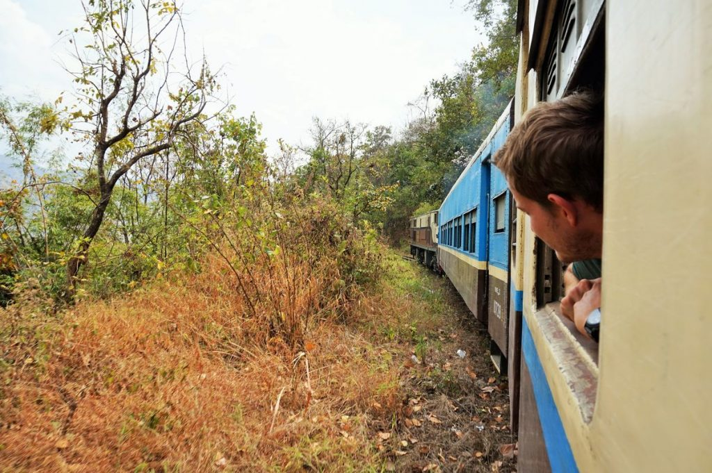 Myanmar train travel