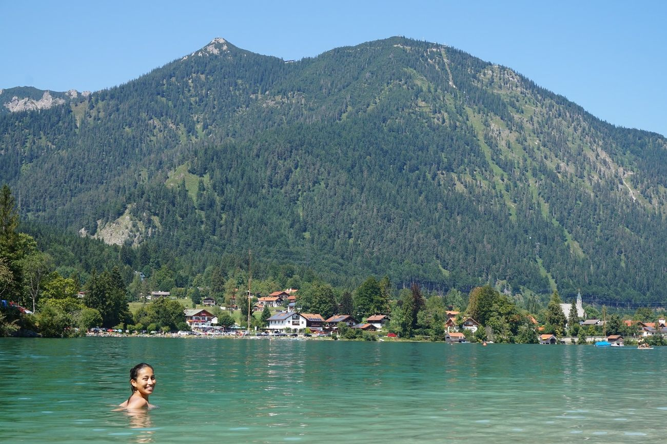 rocio swimming in walchensee