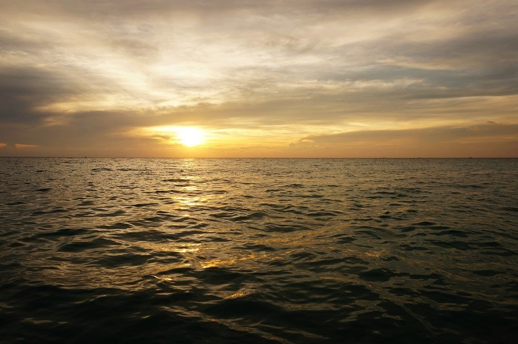 Koh Rong Island Cambodia Long Beach sunset