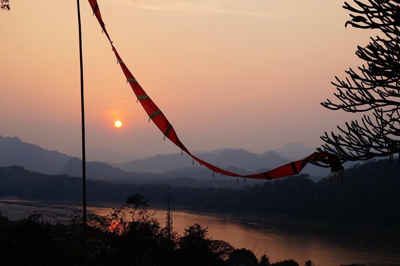 Luang Prabang Mount Phou Si view