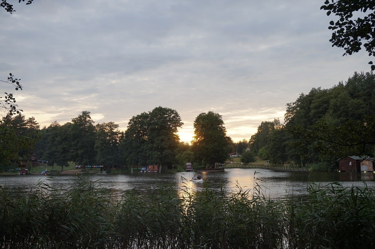 sunset at biber ferienhof