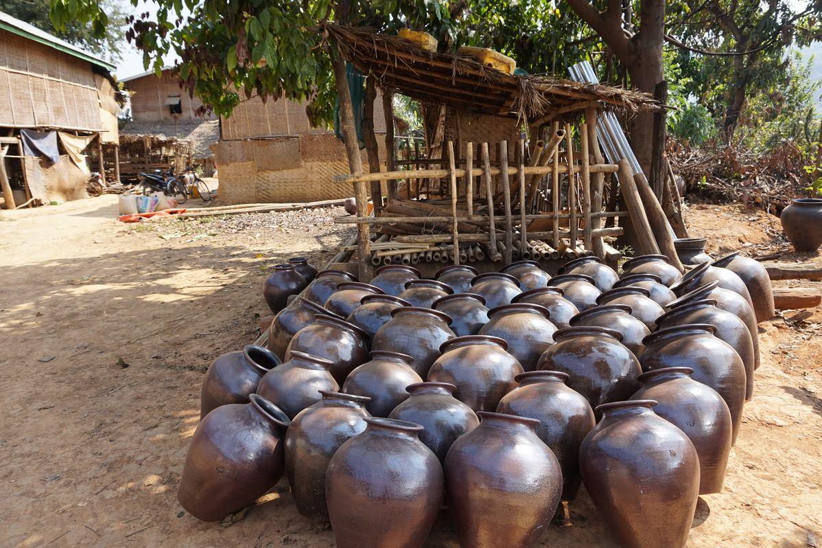 clay pots myanmar