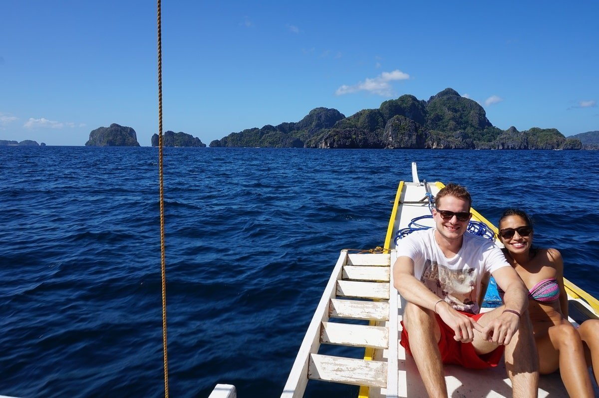 on a boat in el nido philippines