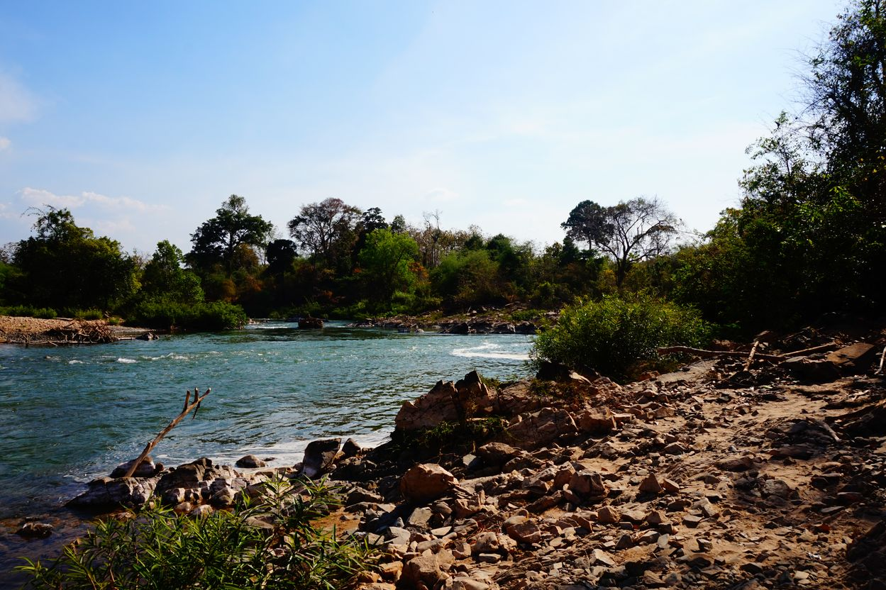 river on don khon island