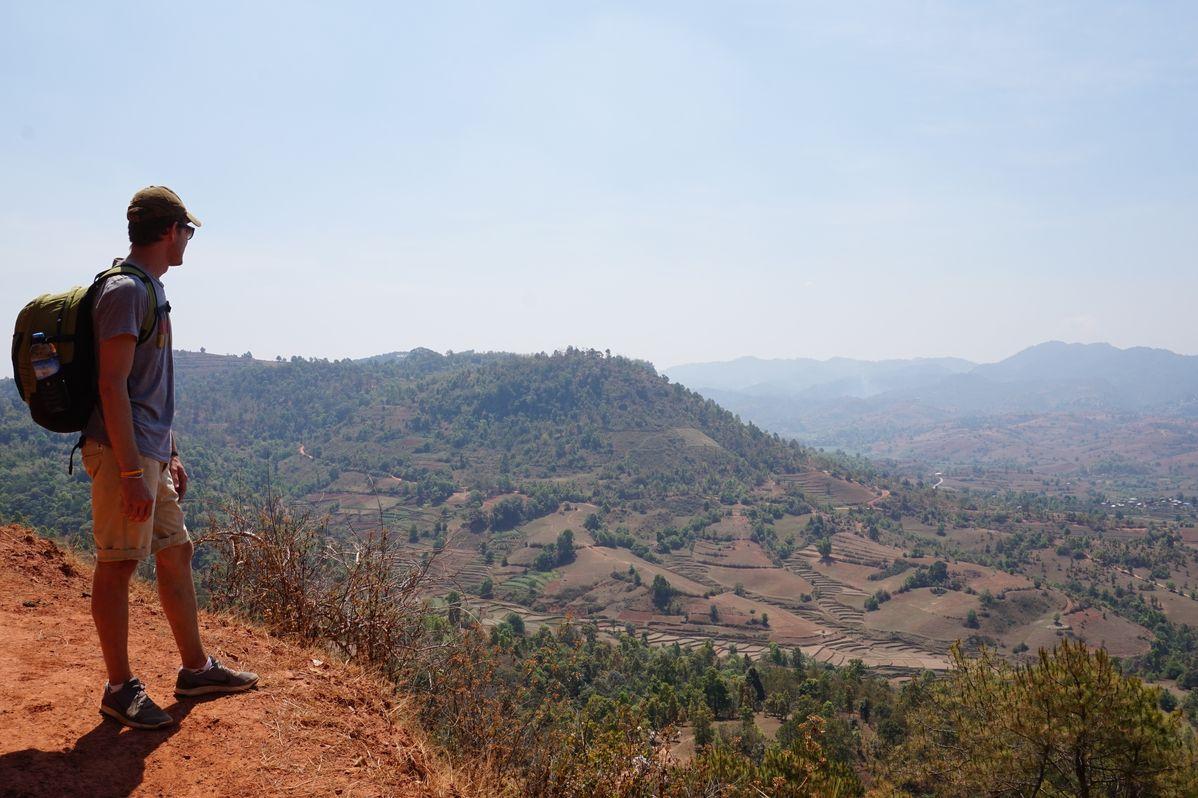 trekking views myanmar