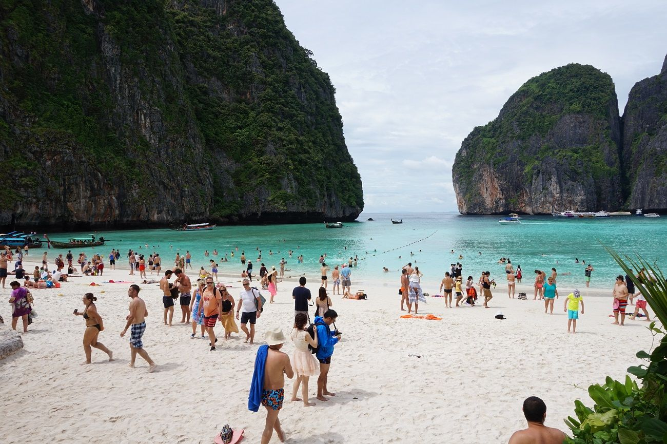 the beach phi phi island