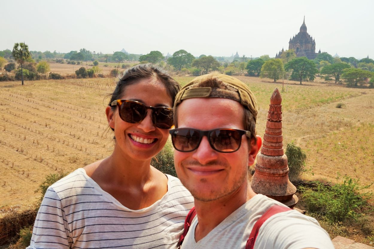view of temples in bagan in myanmar