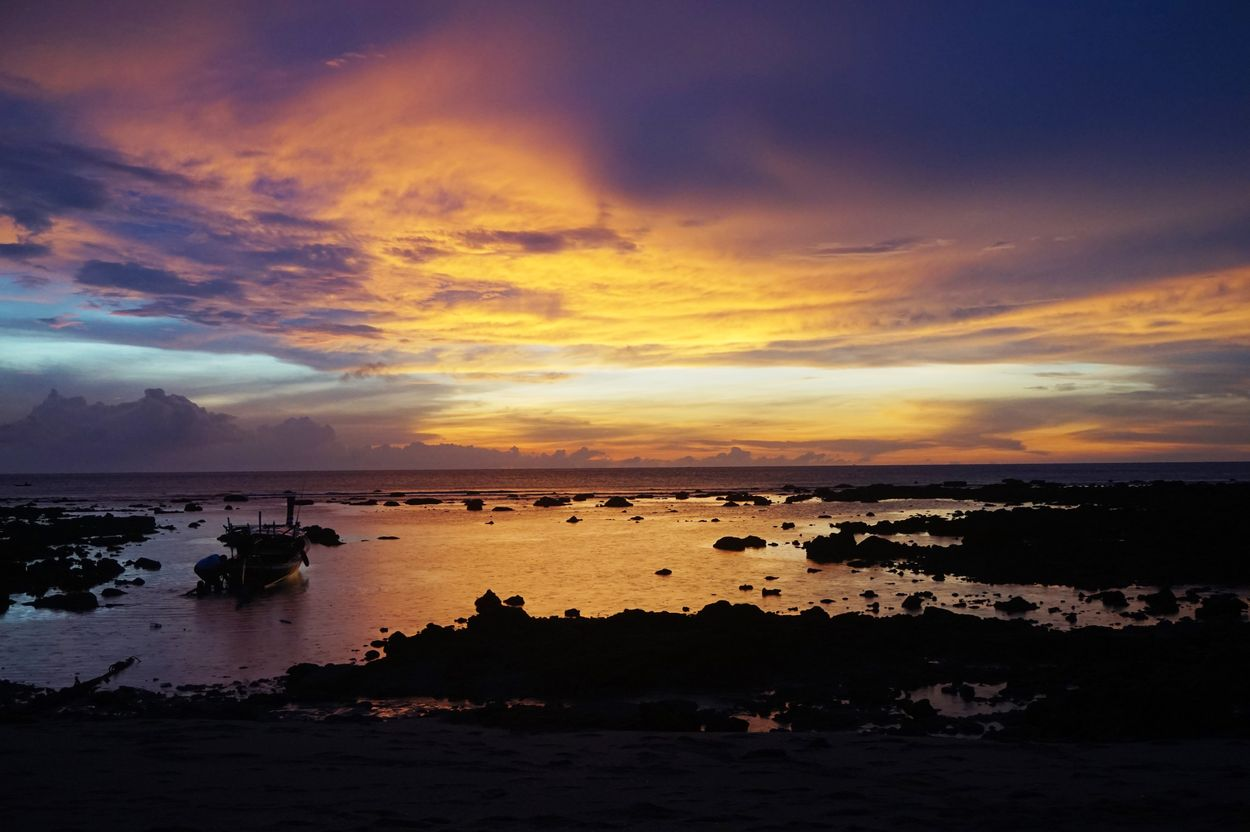romantic destination sunset koh lanta thailand