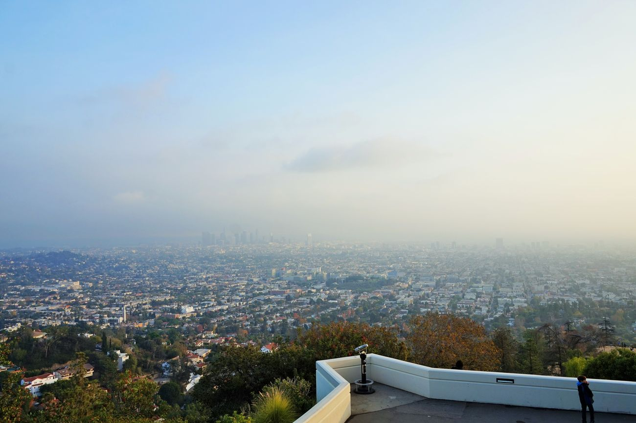 view of la basin from griffith observatory