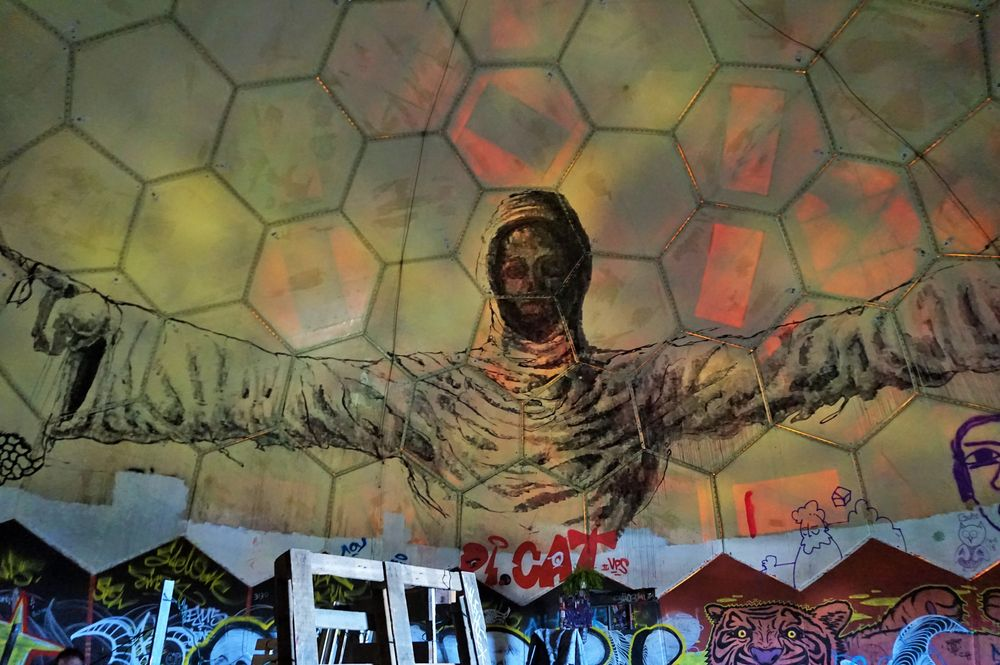 inside the dome of teufelsberg