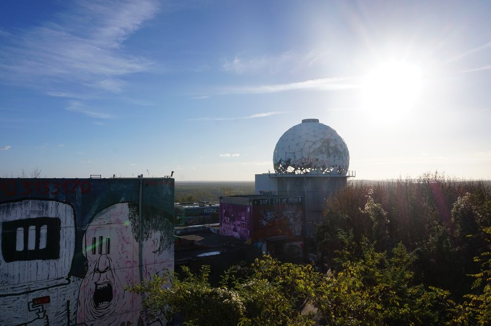 view across grunewald from teufelsberg
