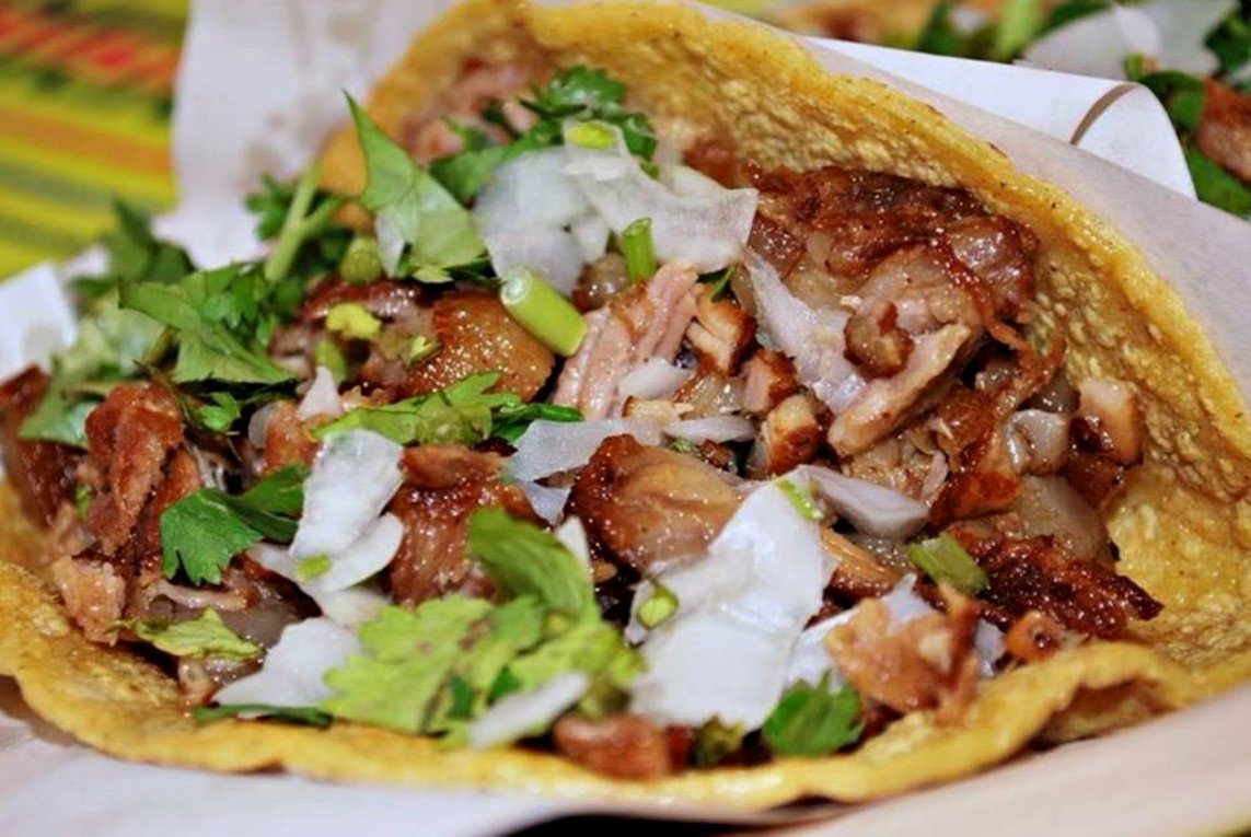 mexican carnitas in taco
