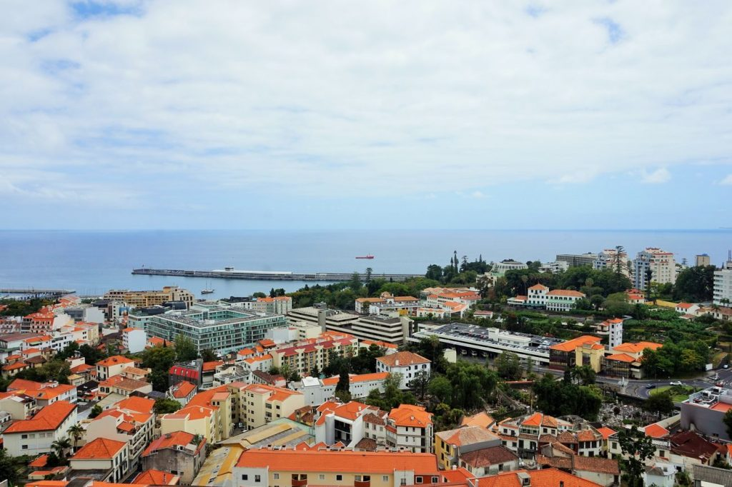 view across funchal town
