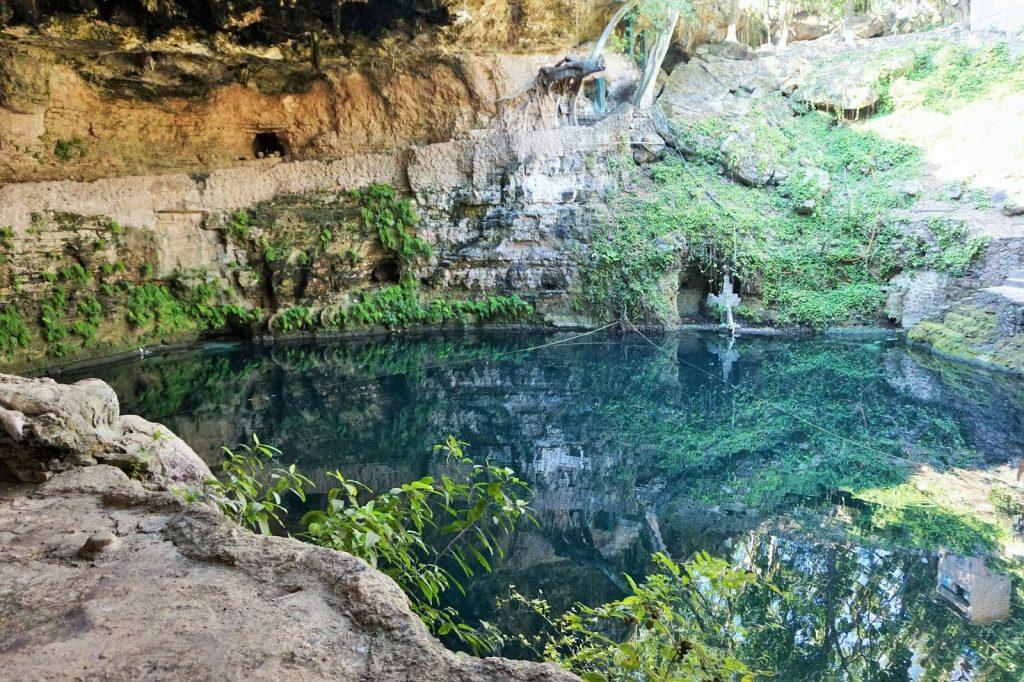 Cenote in Valladolid Yucatán