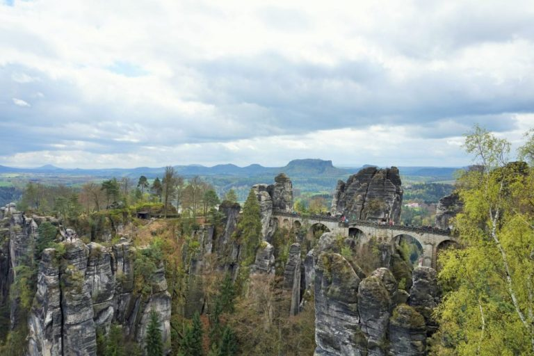 saxon switzerland national park view
