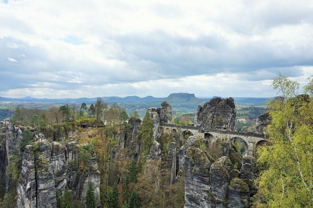 saxon switzerland national park view