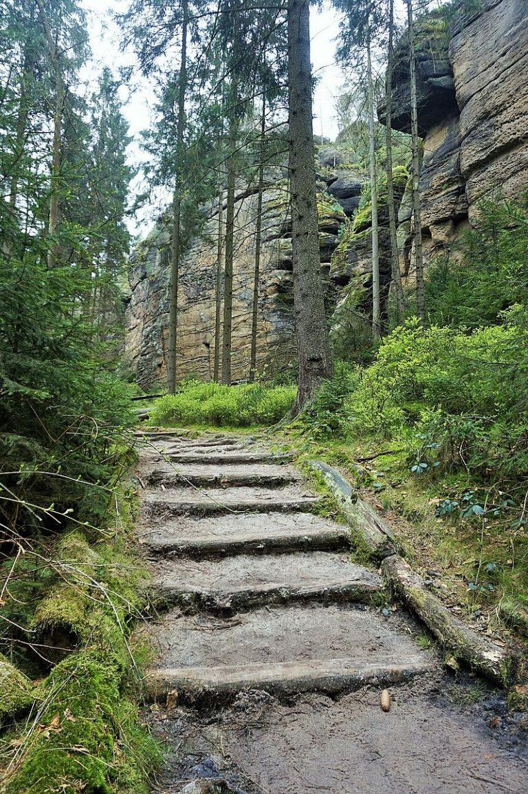 Stairs in Saxon Switzerland
