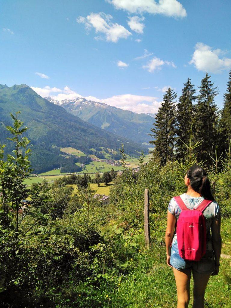 rocio hiking in austria