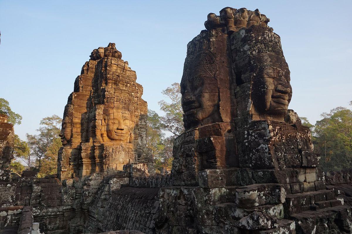 Angkor Wat Bayon Temple Faces