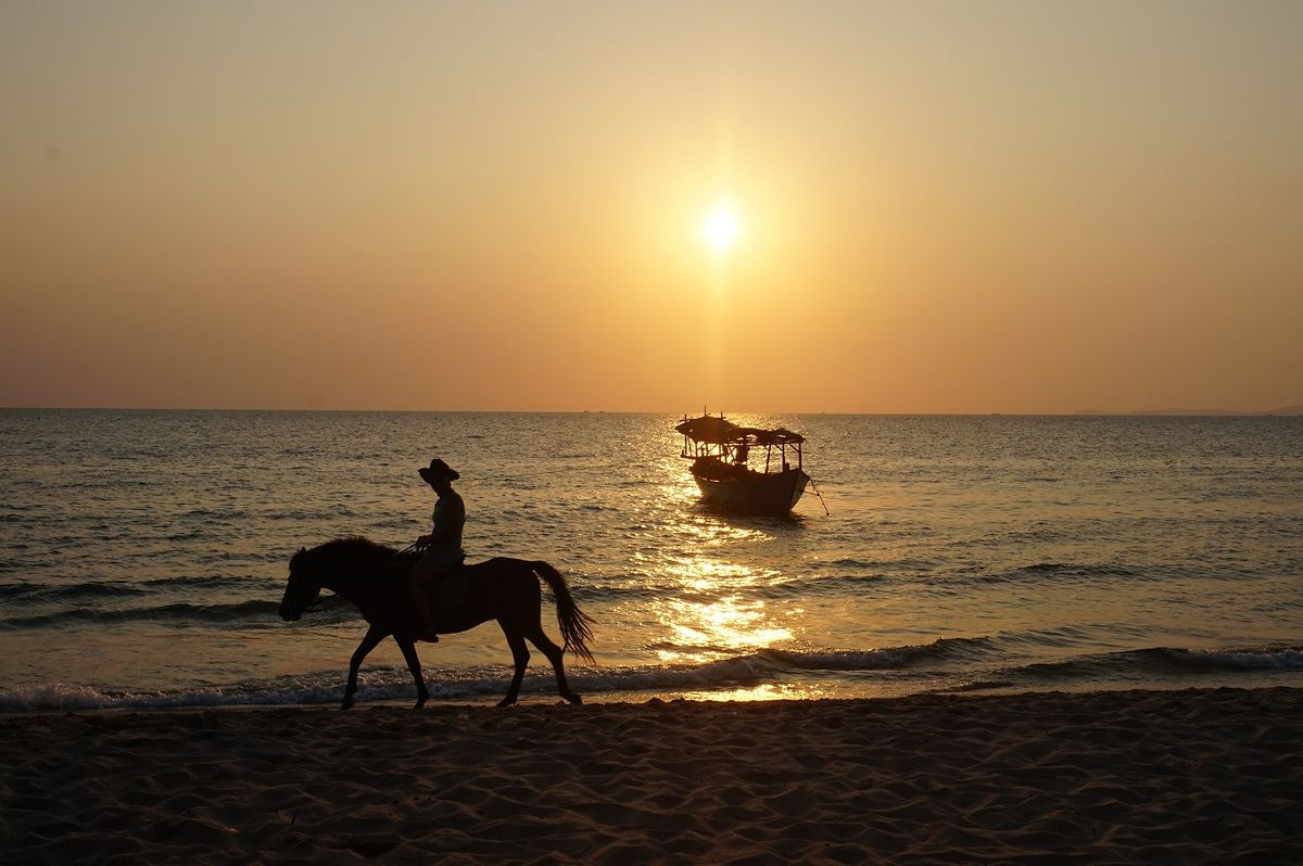 Sunset Otres Beach Cambodia