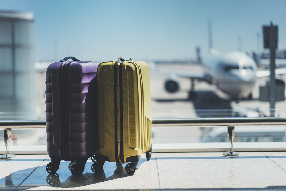 suitcases airport