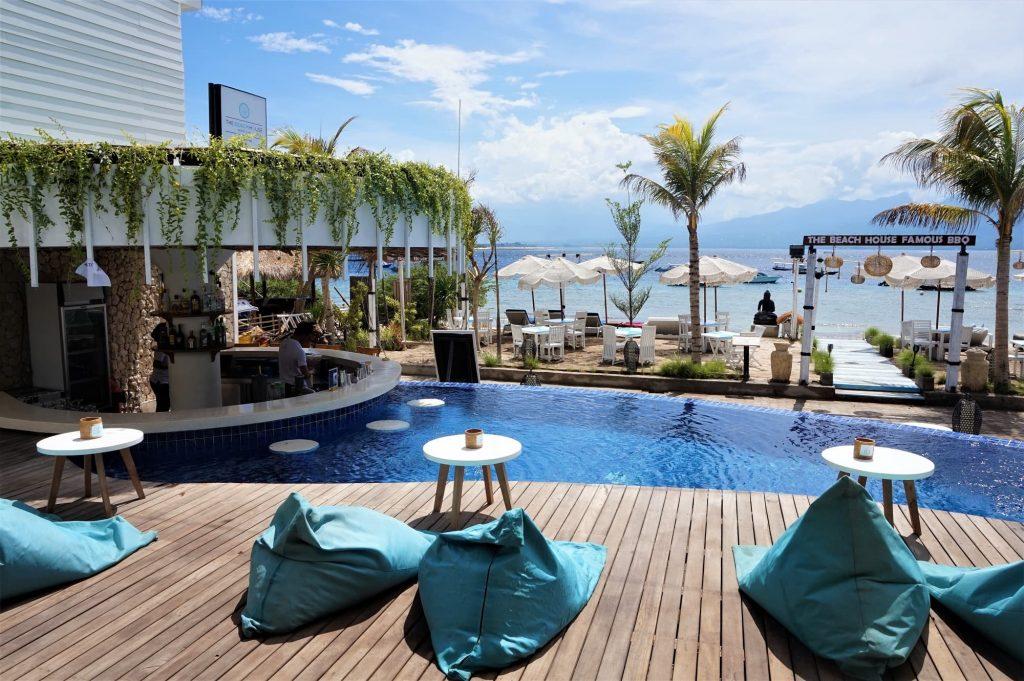 the beach house resort gili t view